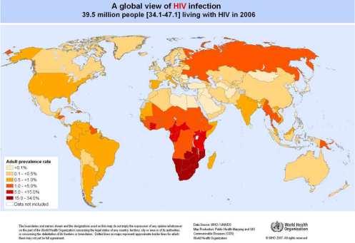 Diffusione dell'AIDS nel 2006
