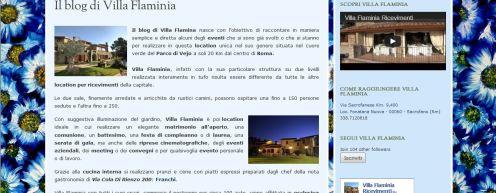 Il blog di Villa Flaminia